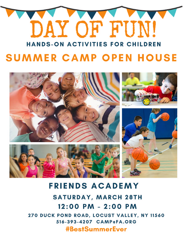 Day of Fun! Summer Camp Open House at Friends Academy