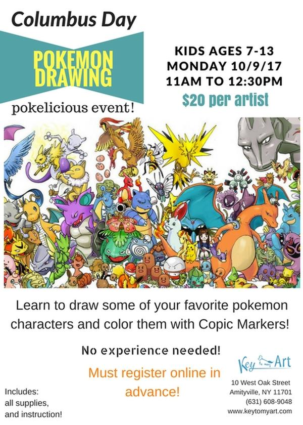 Columbus Day Pokemon Drawing Event!  at Key to My Art