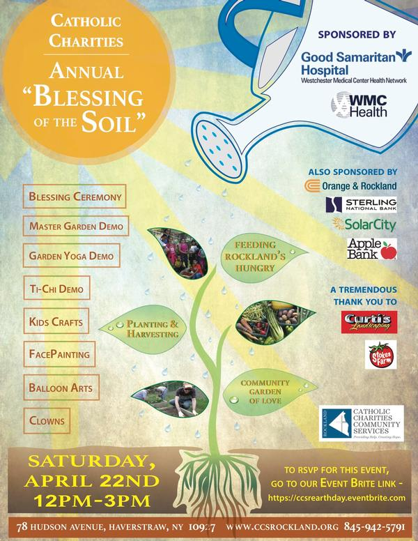 Celebrate Earth Day and Annual Blessing of the Soil at Catholic Charities Community Serivces of Rockland