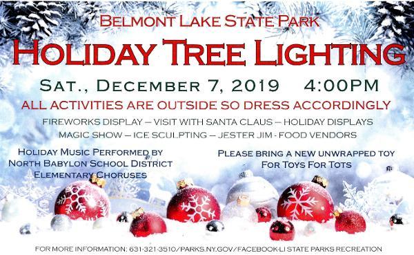 Holiday Tree Lighting at Belmont Lake State Park
