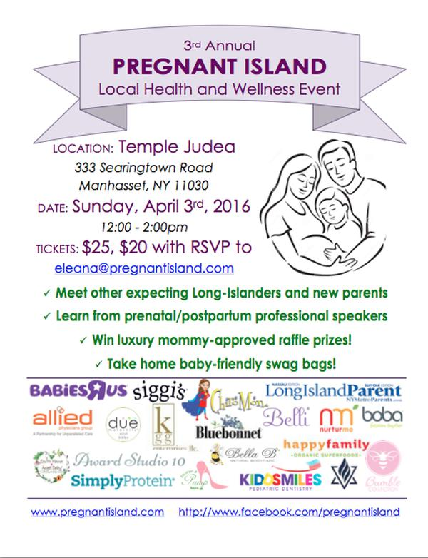 3rd Annual Pregnant Island Health and Wellness Event at Temple Judea