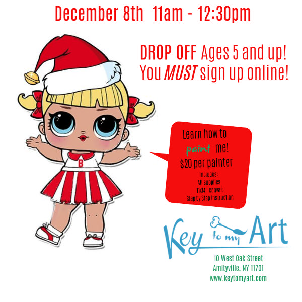 Holiday LOL Paint Event at Key to My Art