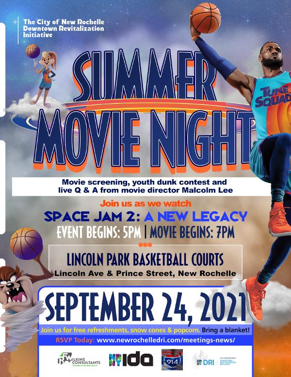 Community Engagement Movie Night Featuring Space Jam 2: A New Legacy at Lincoln Park
