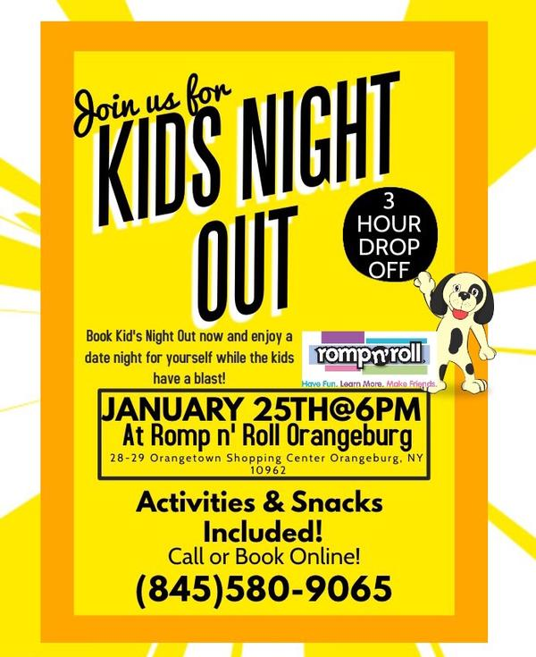 KIDS NIGHT OUT! at Romp n' Roll Orangeburg