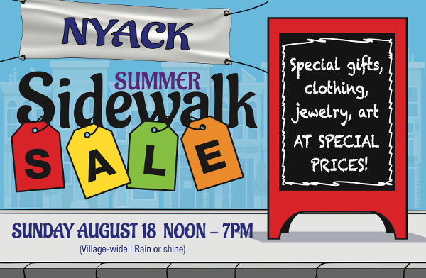 Nyack Summer Sidewalk Sale at Downtown Nyack