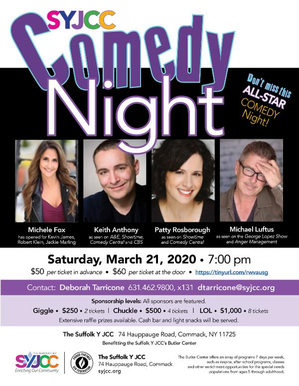All-Star Comedy Night Fundraiser for Special Needs Programs at Suffolk Y JCC