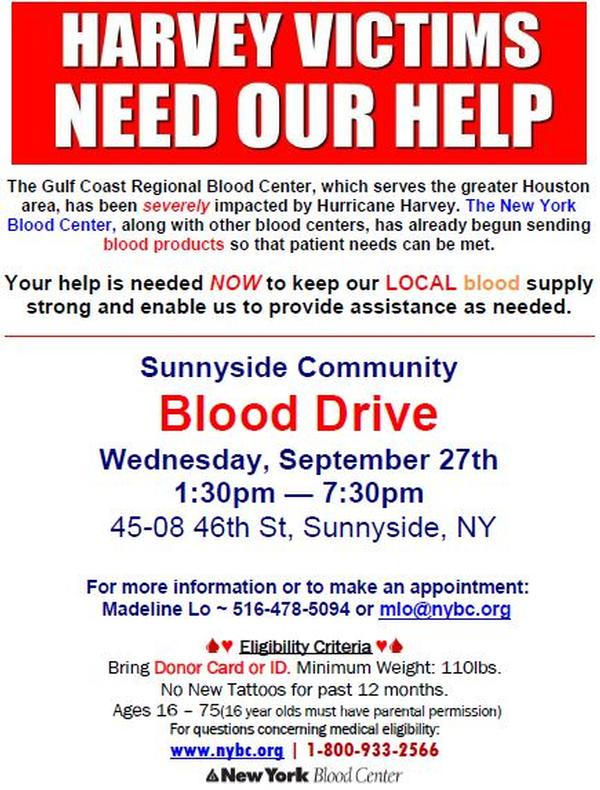 Sunnyside Community Blood Drive at Sunnyside