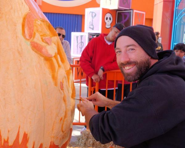 Marc and Maniac Pumpkin Carvers at Luna Park, Jack's Pumpkin Shack