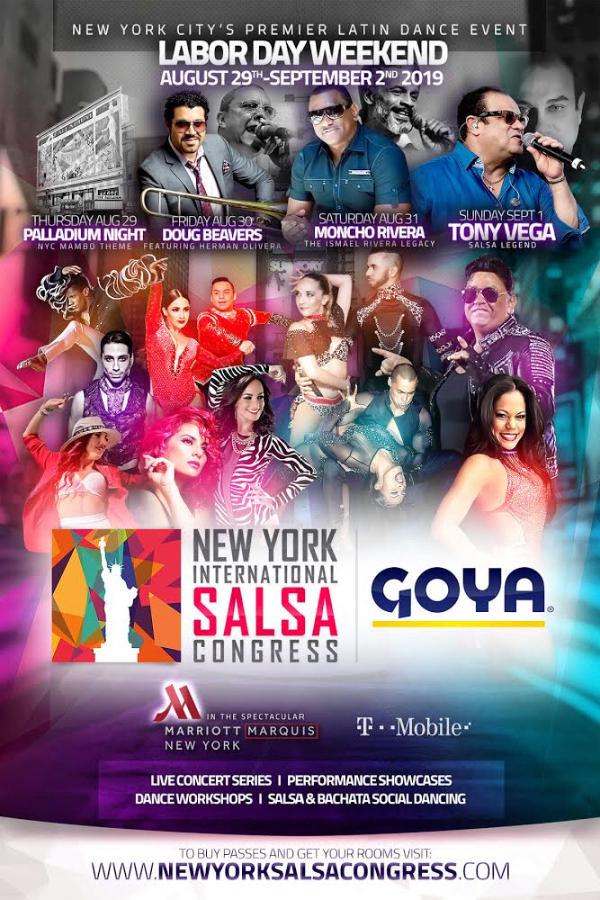 THE 2019 GOYA FOODS NEW YORK INTERNATIONAL SALSA CONGRESS at The Marriott Marquis