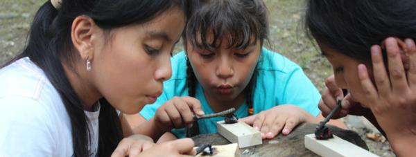 Primitive Living Skills Family Session: Bowl and Spoon Making Part 1 at The Nature Place Day Camp