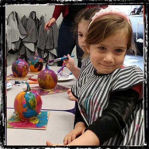 Pumpkin Painting, Ages 7+ at Picasso Kidz