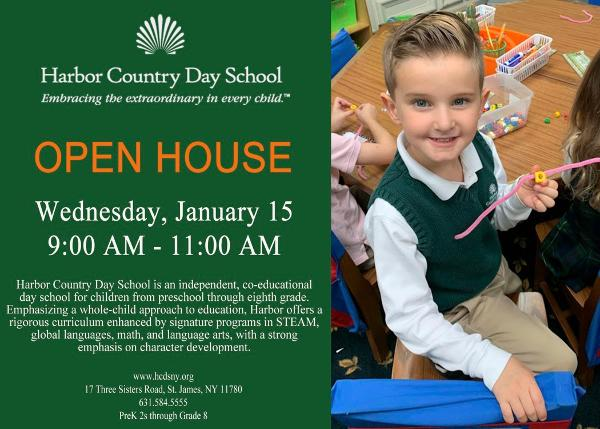 OPEN HOUSE at Harbor Country Day School
