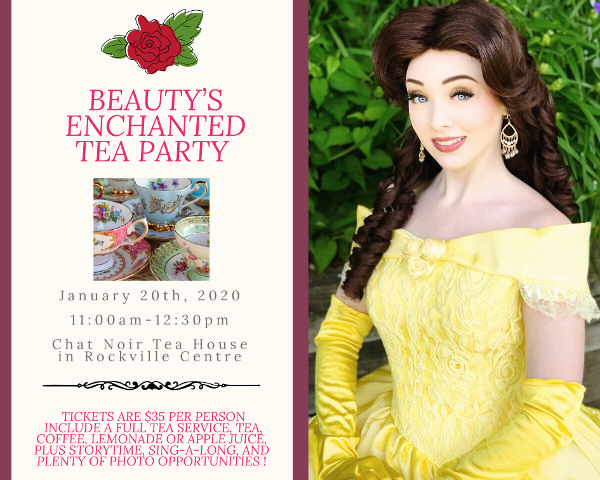 Beauty's Enchanted Tea Party presented by Royal Princess Prep Party Company! at Chat Noir