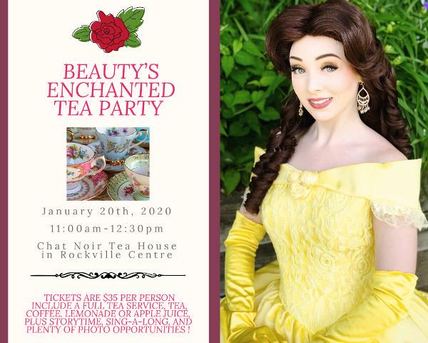 Beauty's Enchanted Tea Party presented by Royal Princess Prep Party Company! at Chat Noir