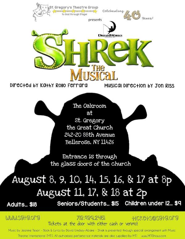 SHREK at St. Gregory Theatre