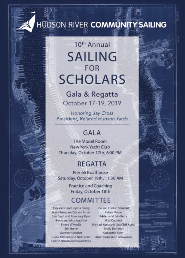 Sailing for Scholars Gala and Regatta at New York Yacht Club & Pier 66