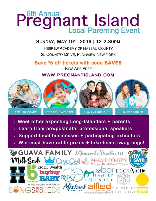 6th Annual Pregnant Island Local Parenting Event at Hebrew Academy of Nassau County