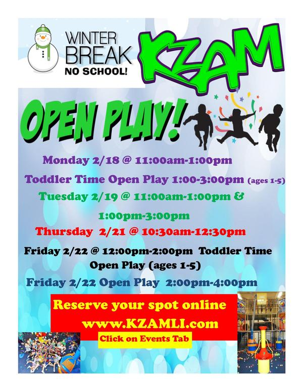 KZAM Open Play at KZAM Farmingdale