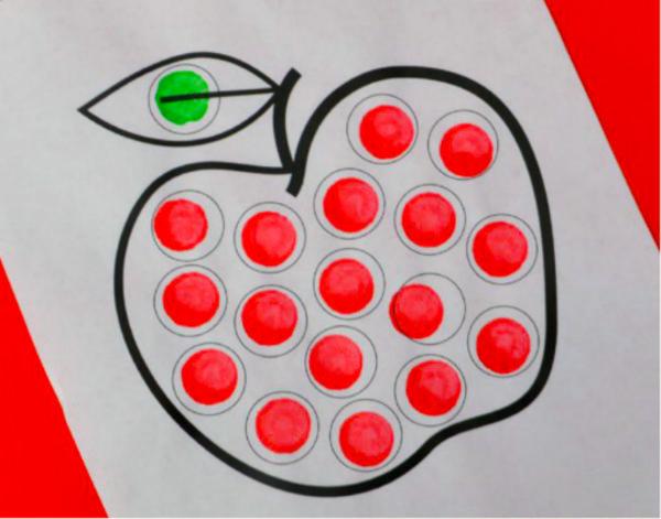 Apple Dot Painting at The Shops at Nanuet