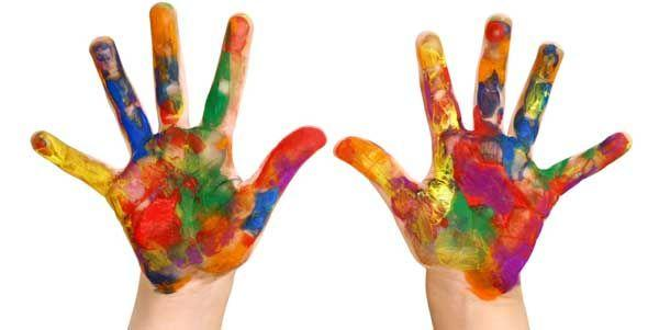 Community Finger Paint at Patchogue-Medford Library