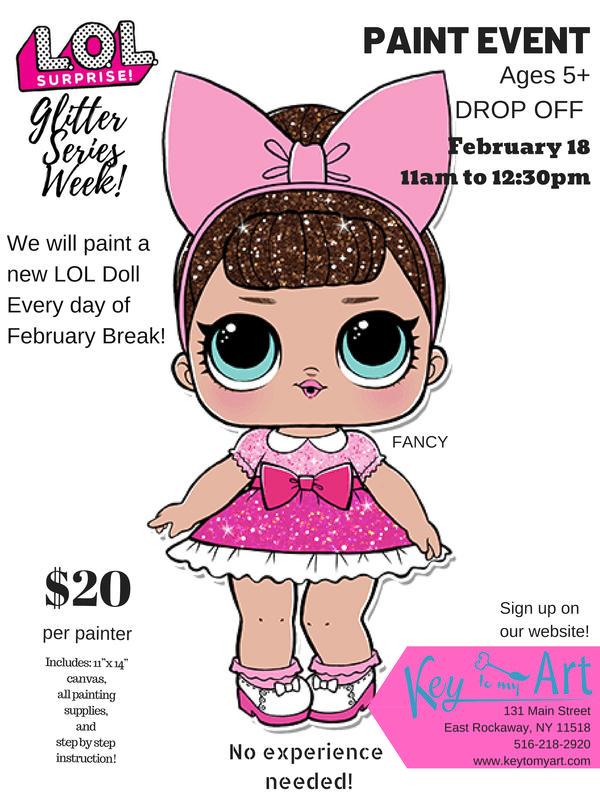 LOL Glitter Doll Paint Week at Key to My Art East Rockaway