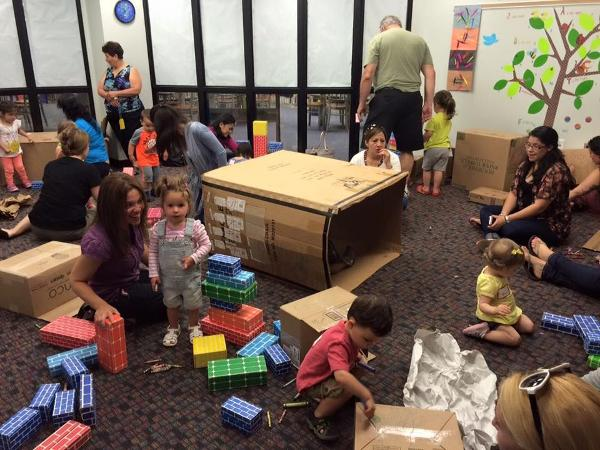 Box Party at Patchogue-Medford Library
