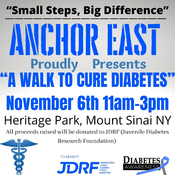 """Anchor East's """"A Walk To Cure Diabetes"""" at Heritage Park in Mount Sinai"""
