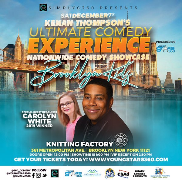 KENAN THOMPSON'S ULTIMATE COMEDY EXPERIENCE - NATIONWIDE COMEDY SHOWCASE at THE KNITTING FACTORY