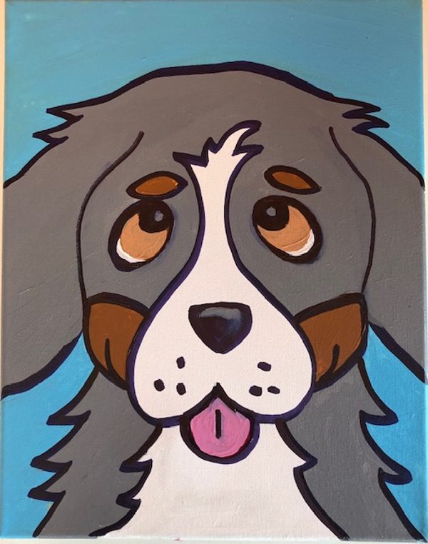 Dog Painting at Creative Corner of Larchmont