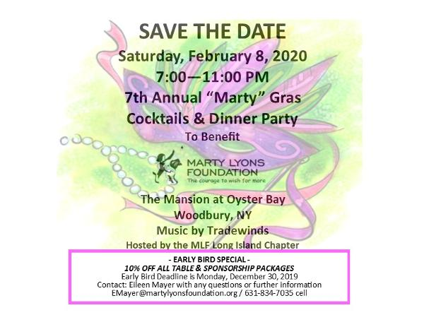 Marty Lyons Foundation 7th Annual Marty Gras at The Mansion at Oyster Bay