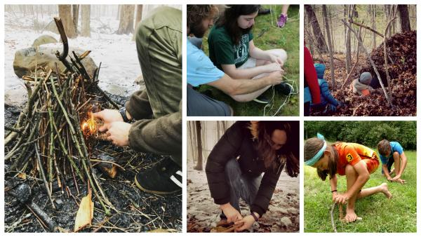 Earth Living Skills - Family Session at The Nature Place Day Camp