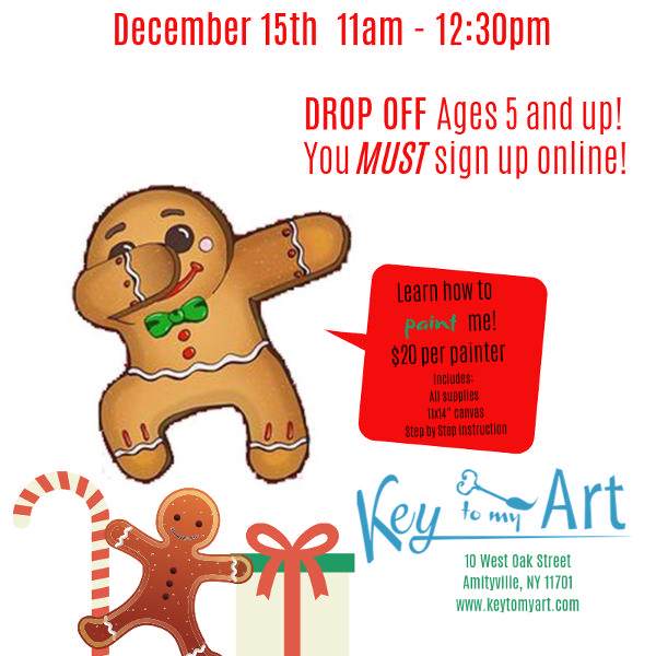 Gingerbread Paint Event at Key to My Art