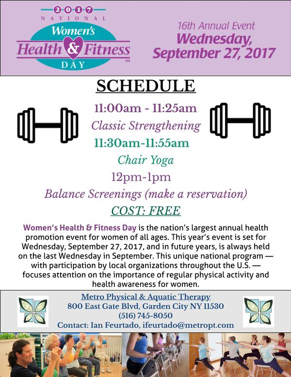 Women's Health & Fitness Day at Metro Physical Therapy