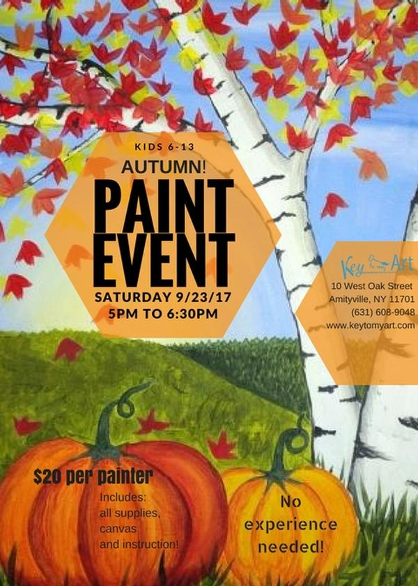 Autumn Paint Event for Kids at Key to My Art