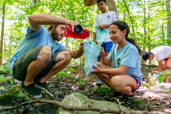 Earth Living Skills for Families: Water Collection and Processing at Threefold Educational Center