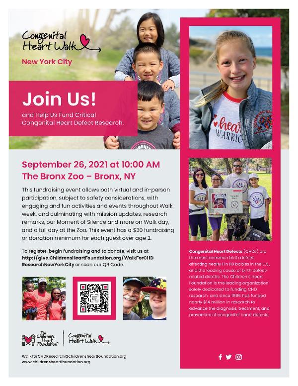2021 Congenital Heart Walk at the Bronx Zoo at Bronx Zoo