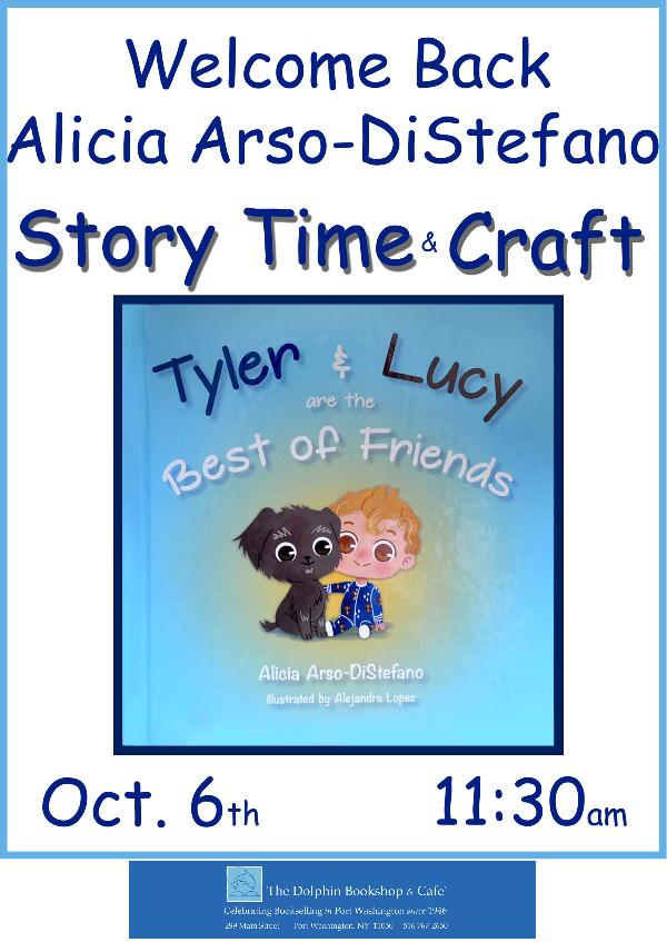 Sunday Morning Story Time & Craft with Author Alicia Arso-DiStefano at The Dolphin Bookshop