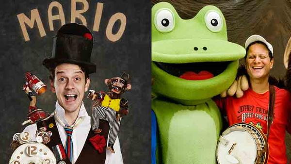 Mario the Maker Magician and The Bossy Frog Band at Rittenhausen Theater at BOCES