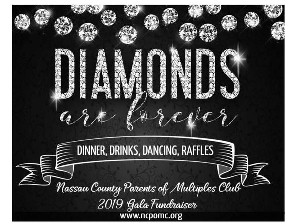 PARENTS NIGHT OUT! Nassau County Parents of Multiples 2019 Gala: Diamonds Are Forever at Jericho Terrace