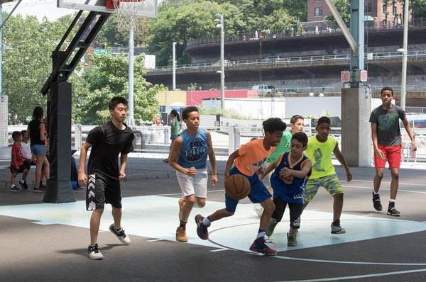 Basketball Clinic at Pier 2, Brooklyn Bridge Park