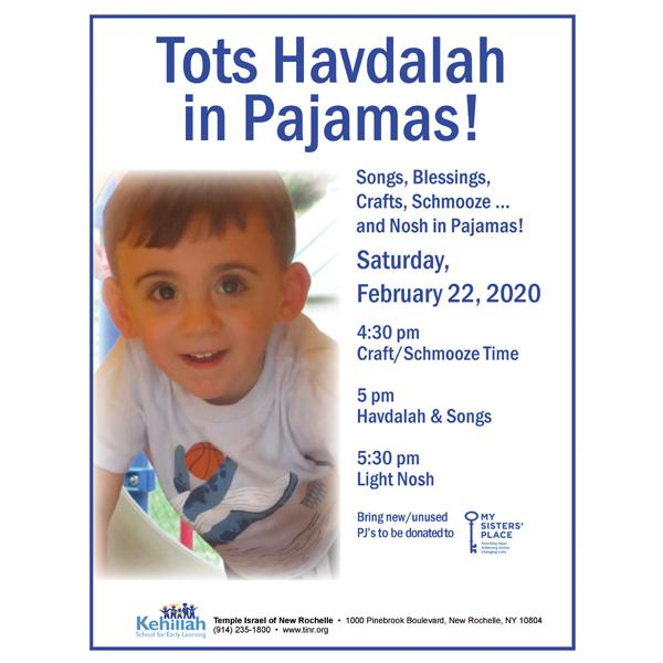 Tots Havdalah in Pajamas at Temple Israel of New Rochelle