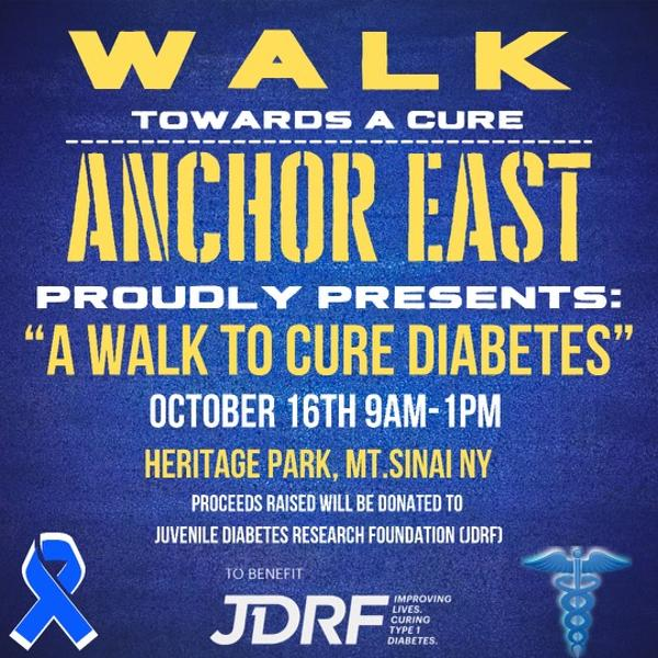 """POSTPONED Anchor East's """"A Walk For Diabetes"""" at Heritage Park"""