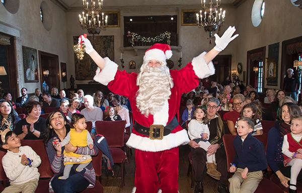 Santa Visits the Rosen House at Caramoor