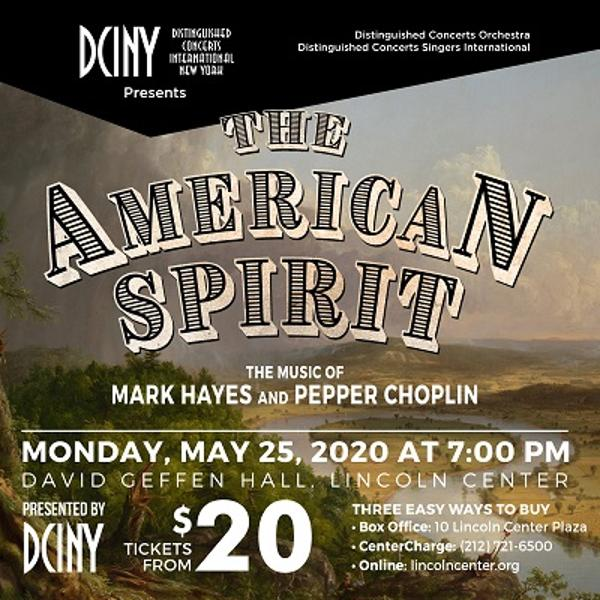 The American Spirit: The Music of Mark Hayes and Pepper Choplin at David Geffen Hall, Lincoln Center