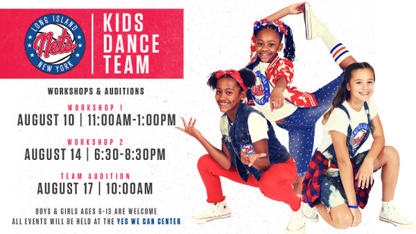 Long Island Nets 2019-2020 Kids Dance Team Auditions at Yes We Can Center