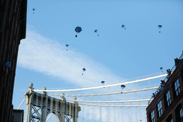 The Great Dumbo Drop at Washington Street