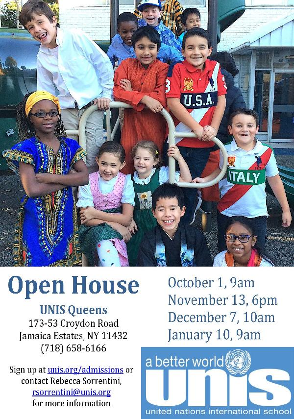 Queens Open House at United Nations International School