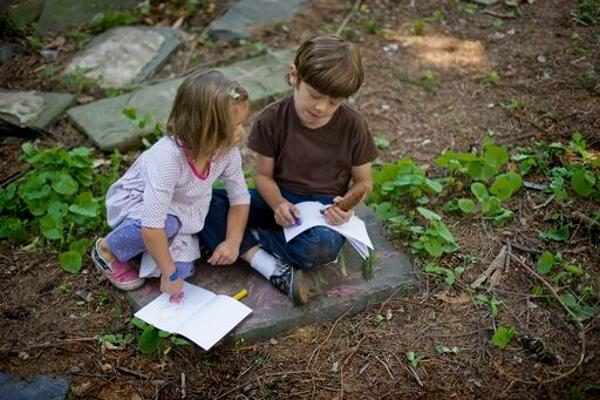Family Art Project: Unfurling Field Journal at Wave Hill