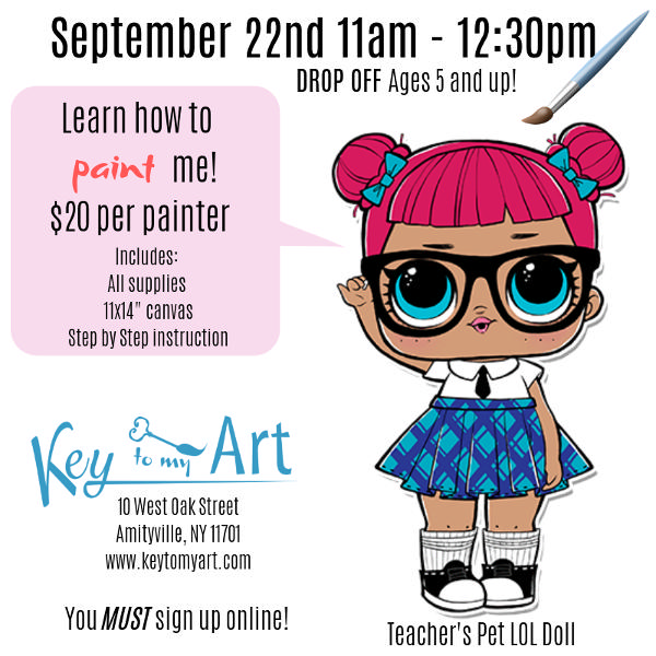 LOL Doll Paint Event - Teacher's Pet at Key to My Art