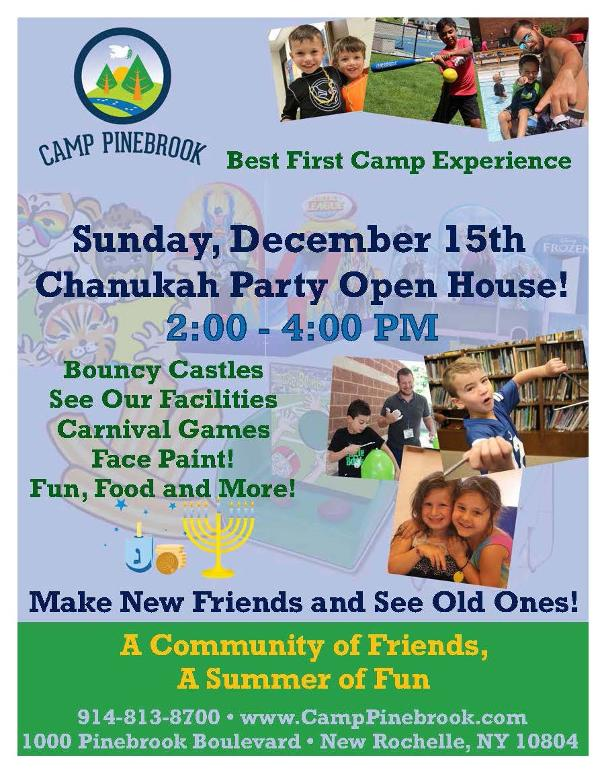Chanukah Party Open House at Camp Pinebrook